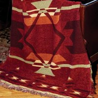 Flame Southwestern  Wall Tapestry Afghans