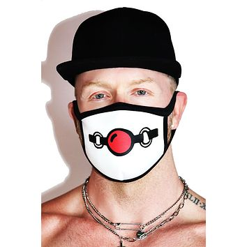 Gag Face Mask-White