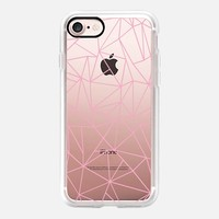 Abstraction Outline Pink Transparent iPhone 7 Case by Project M | Casetify