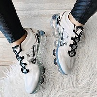 Nike Air VaporMax 2019 Fashionable Women Men Air Cushion Sport Shoes Sneakers White