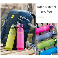 Uzspace Tritan Water Bottle BPA Free Plastic Cup For Sports Outdoor Camping 500 ML Creative Portable Drinkfles