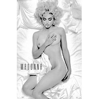 "Madonna Poster Black and White Poster 24""x36"""