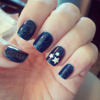 3 Cluster Star Nail Decals - YOU PICK COLOR - Set of 20
