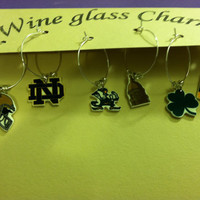 University of Notre Dame Wine Glass ID Charms