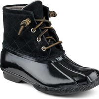 Sperry Top-Sider Saltwater Duck Boot Black, Size 11M  Women's Shoes