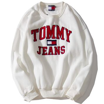 Tommy Jeans Women or Men Fashion Casual Loose Top Sweater
