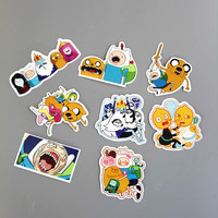 8Pcs/Lot American Drama Adventure Time Funny Sticker Decal For Car Laptop Bicycle Motorcycle Notebook Waterproof Stickers