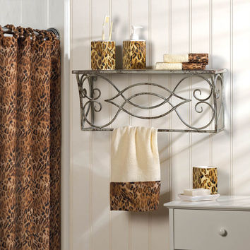 Leopard Print Bath Ensemble Set