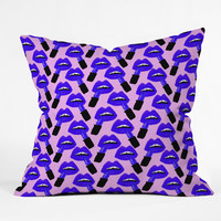 Bouffants and Broken Hearts Never Enough Lipstick Throw Pillow