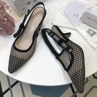 Dior 2018 Women Fashion Simple Casual  High Heeled Shoes