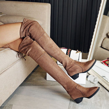 Women Over the Knee Slim Thigh High Boots a12852