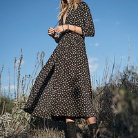 Free People Womens Hearts All Over Maxi Shirt Dress