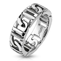 D-Linked Chain Ring Stainless Steel