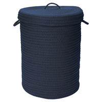 Simply Home Hamper w/ Lid, Navy, Laundry Hampers