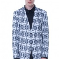 Blue Printed Blazer | NOT JUST A LABEL