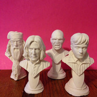 Four Harry Potter mini sculptures