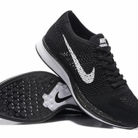 """Nike Flyknit Racer"" Men Sport Casual Fly Knit Multicolor Sneakers Running Shoes"