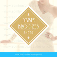 OOAK Premade Logo Design - Golden Diamond - Perfect for a professional photographer or jewelry boutique