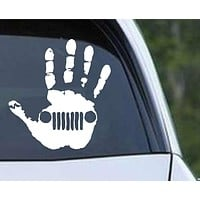 Jeep Wave Handprint Die Cut Vinyl Decal Sticker