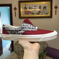 Vans x FOG Fear Of God Era 95 Reissu Red / Black / White Classic Casual Leisure Shoes