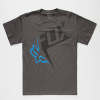 Fox Outcome Mens T-Shirt Charcoal  In Sizes