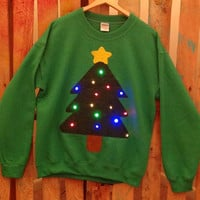 Light-up ugly Christmas sweater! - Christmas Tree