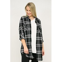 Flannel Tunic Top