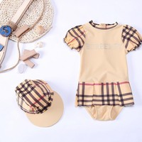 Sexy Bikini Kids Children's Swimwear Junior Girls Swimsuit Swimwear Girls Kids Summer 2018 New Children Baby Drying 3033 Plaid