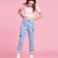 Lazy Oaf x The Ragged Priest Collection Patch Jeans - Trousers - Categories - Womens