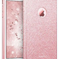 """iPhone 7 Plus Case, ESR Bling Glitter Sparkle Three Layer Shockproof Soft TPU Outer Cover + Hard PC Inner Protective Shell Skin for Apple 5.5"""" iPhone 7 Plus (Rose Gold)"""