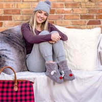 Reindeer Winter Women's Slippers | Christmas Slippers