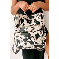 Cowabunga Faux Leather Cow Print Backpack (Cow)