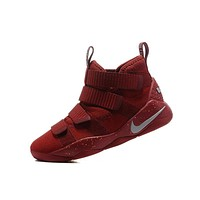 Beauty Ticks Nike Lebron Soldier 11 Cavs Red Men Basketball Sneakers Sports Shoes