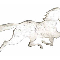 """36"""" Galloping Horse Decor, White, Signs"""