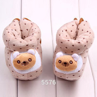 style born Cotton Warm Animal Lovely Baby Shoes Toddler Unisex Soft Sole Skid-proof Kids girl infant First W