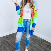 Colorful Fashion Cardigan: Multi