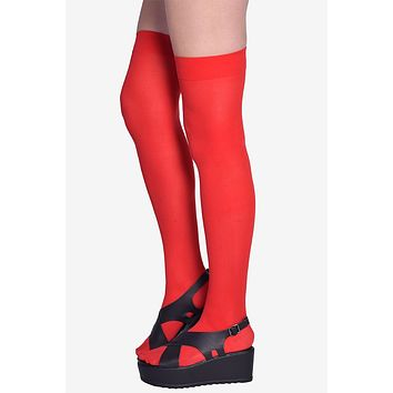 Red Thigh Highs