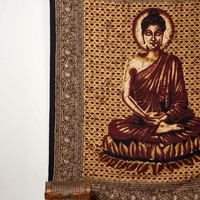 Red and Brown Buddha Tapestry