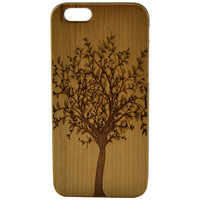 Wooden Case iPhone 6 Hard Cover Engraved Maple Beige Beige