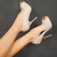 Crystal Heeled Pumps
