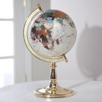 Belham Living Hamilton 9-inch Diam. Tabletop Globe - Mother of Pearl Finish - with Si... | www.hayneedle.com