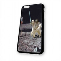 Sloth Llama Lasers on Moon for iphone 6 case