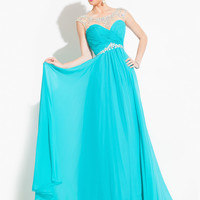 High Neck With Cap Sleeves Formal Prom Dress By Rachel Allan 6903