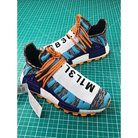 Bbc X Pharrell X Adidas Nmd Human Race Trail Hu Solar Sport Running Shoes-1