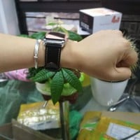 Genuine leather single tour bracelet watch band for hermes apple watch leather strap 42mm 38mm watchband classic clasp buckle
