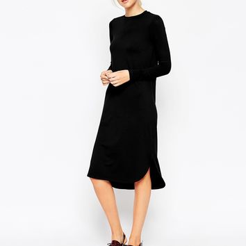 ASOS Midi Dress with Curved Hem