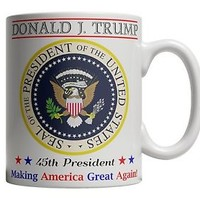 Donald Trump Coffee Mug Cup 45th President Inauguration Make America Great Again