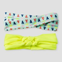 Girls' 2-Pack Woven Turban Headwrap Cat & Jack™ - Mint/Yellow : Target