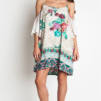 Easy Does it Green Floral Dress