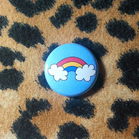 Pansexual Flag Rainbow Pinback Button or Magnet
